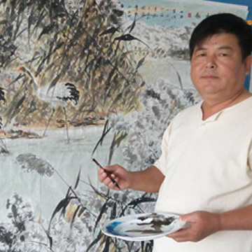 国画家张明河字画之家