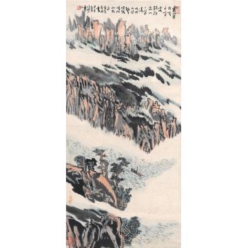 陆俨少1984年作巫峡千峰图立轴设色纸本