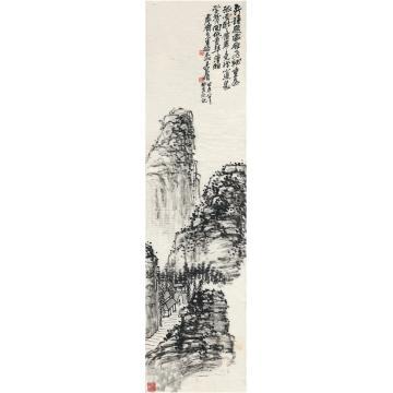 吴昌硕1923年作林屋岗峦图画心水墨纸本