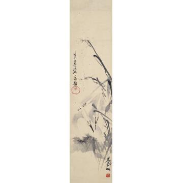 林风眠鹭鸟立轴纸本