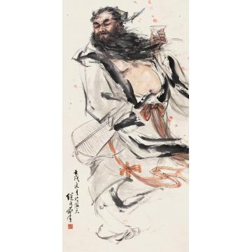 刘继卣壬戌(1982)年作品酒图立轴设色纸本