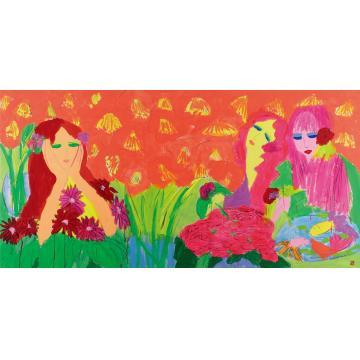 丁雄泉秘密花园设色纸本