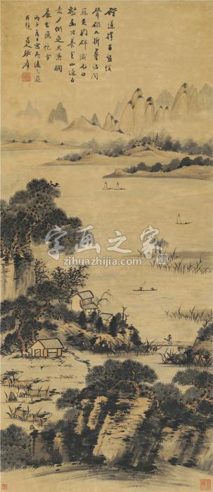 张大千夷陵山水图字画之家