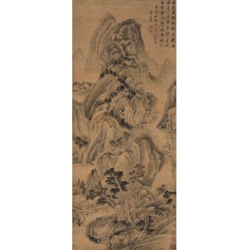 董其昌(款)辛亥(1611年)作吴绡烟亭立轴绢本