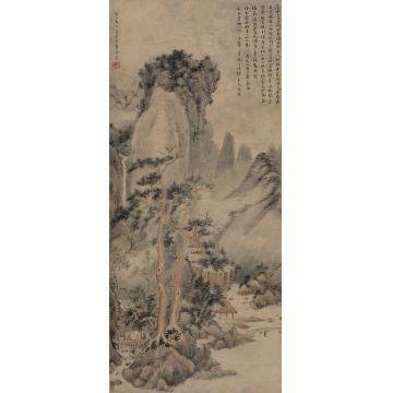 翟大坤(款)癸巳(1773年)作松亭论古立轴纸本