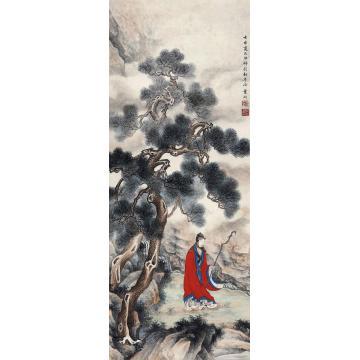 叶昀1932年作高士图镜心设色纸本