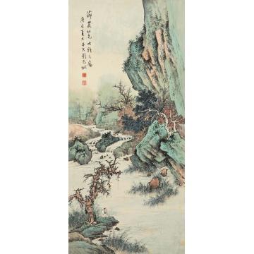 刘子久1940年作山水立轴设色纸本