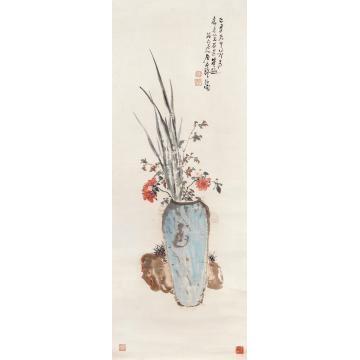 居廉己丑(1865)年作天中吉瑞镜片设色纸本