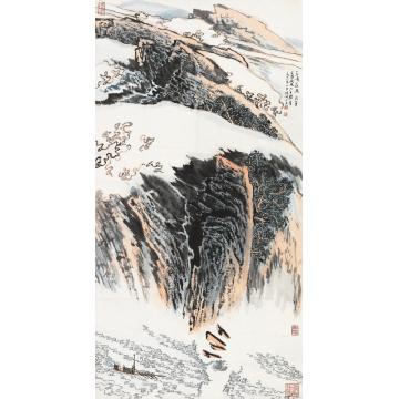 陆俨少1978年作三峡长流立轴设色纸本