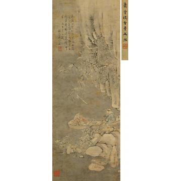 萧云从康熙丙午(1666)年作雪夜寻梅图立轴设色纸本