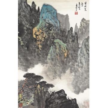 应野平壬戌(1982)年作松风图立轴设色纸本