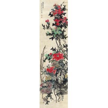 陈半丁花卉立轴纸本
