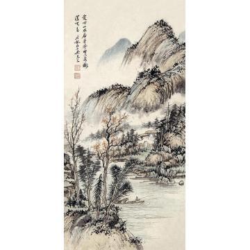吴琴木山水立轴纸本
