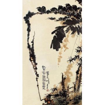 潘天寿花鸟立轴纸本
