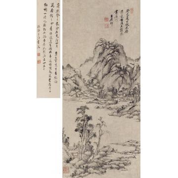王原祁1713年作仿大痴笔意图立轴纸本