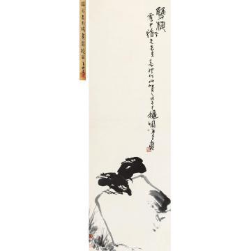 潘天寿1948年作双栖立轴纸本