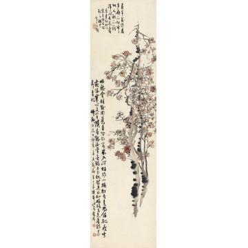 陈半丁1931年作红梅立轴纸本