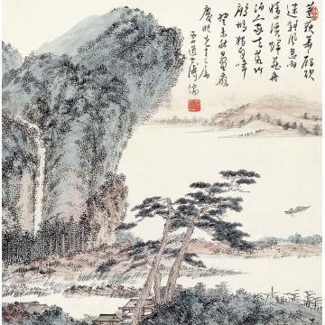 溥儒1943年作溪山幽居立轴纸本