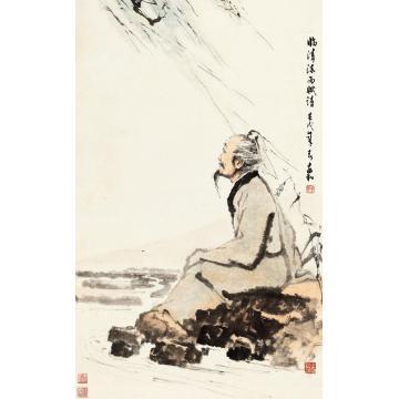 蒋兆和1982年作陶渊明像立轴纸本