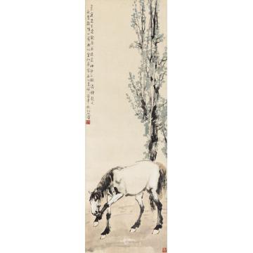 徐悲鸿1935年作骏马立轴纸本