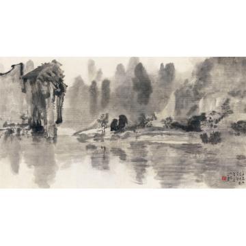 徐悲鸿1937年作阳朔之春横批纸本