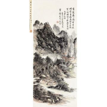 黄宾虹1948年作九华纪游立轴纸本