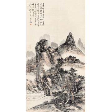黄宾虹1935年作始信峰纪游镜心纸本