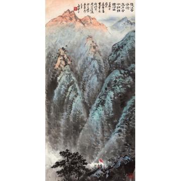 应野平1974年作毛泽东诗意井冈山镜心纸本