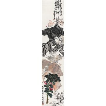 潘天寿花卉镜心设色纸本