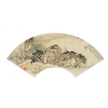 唐云山水扇片