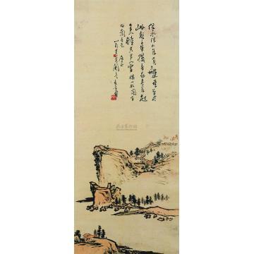 潘天寿山水立轴