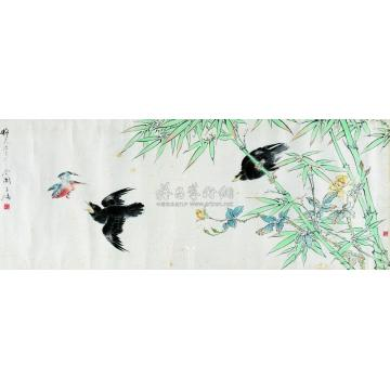王雪涛花鸟镜心