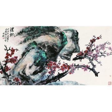 朱屺瞻己未(1979年)作浓艳镜心