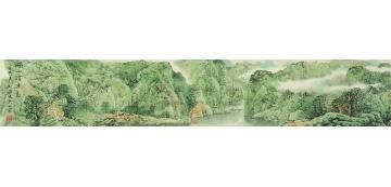 刘逊1995年作湖山清远手卷