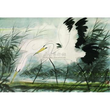 林风眠1957年作双鹭镜心