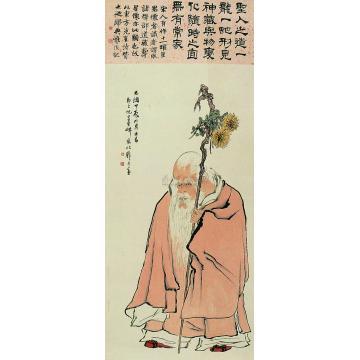 倪田甲辰(1904)年作寿星图立轴