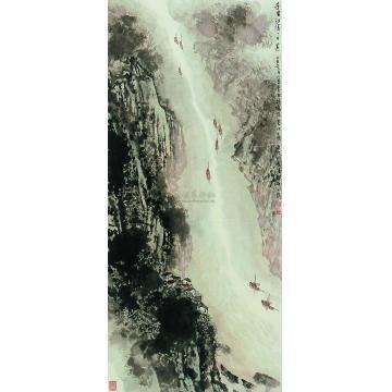 宋文治乙丑(1985)年作千里江陵图立轴