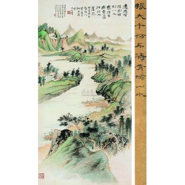 张大千癸酉(1933)年作宋人诗意图立轴