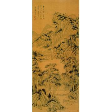奚冈己酉(1789)年作山水图立轴