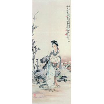 徐燕荪辛巳(1941年)作仕女立轴