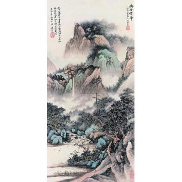 吴湖帆辛卯(1951年)作幽谷云峰立轴