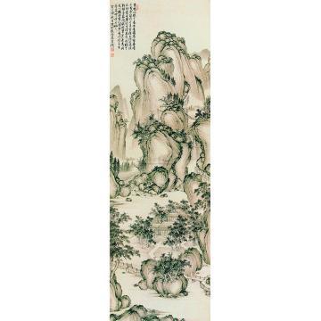 殷梓湘癸巳(1953)年作天香书屋图立轴