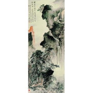 郑午昌雁荡龙湫图立轴