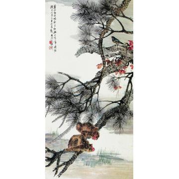 程璋乙丑(1925)年作秋月帝晓图立轴
