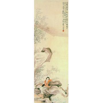 贺天健戊辰(1928)年作新妆晚香图立轴
