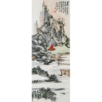 王震已未(1919年)作无量寿佛立轴