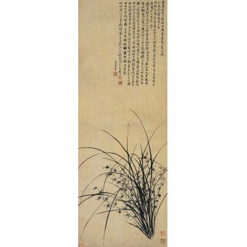 钱载戊戌(1778年)作兰草立轴