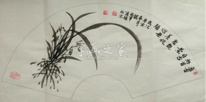 魏振军国画花鸟墨兰图字画之家