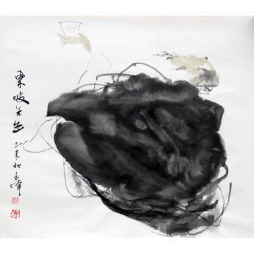 刘志伟国画人物《东坡先生》字画之家
