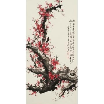 赵洪新四尺整张,竖幅国画花鸟朔风吹春珠蕾裂-已软裱字画之家